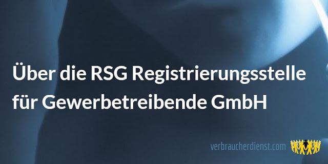 Titel: Über die RSG Registrierungsstelle für Gewerbetreibende GmbH
