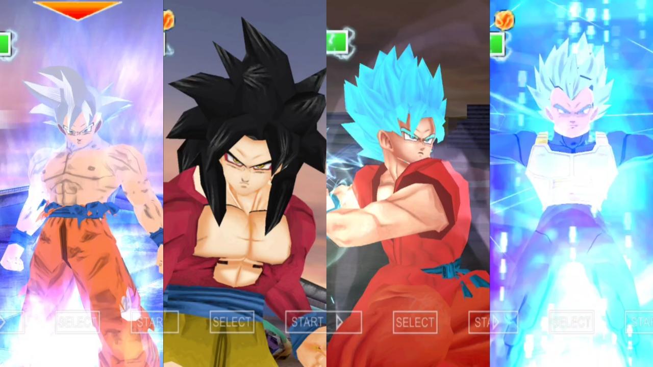 DBZ BT3 Goku all forms and Ultra Instinct