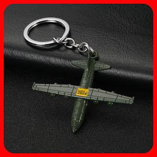 PUBG Battle Royale Plane Keychain Pendant Keyring