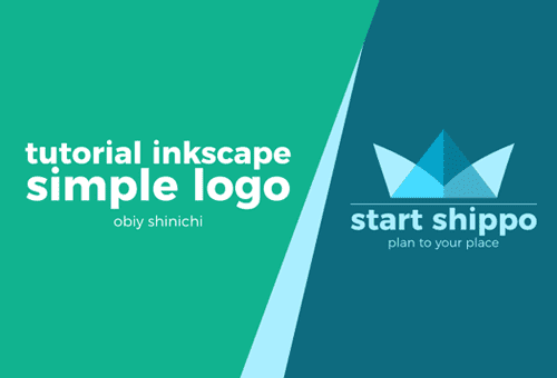 Simple Logo dengan teknik Union dan Difference pada Inkscape