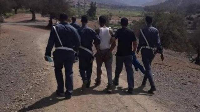 اشتوكة: إعتقال مبحوث عنه بعد محاصرته من قِبَل مواطنين