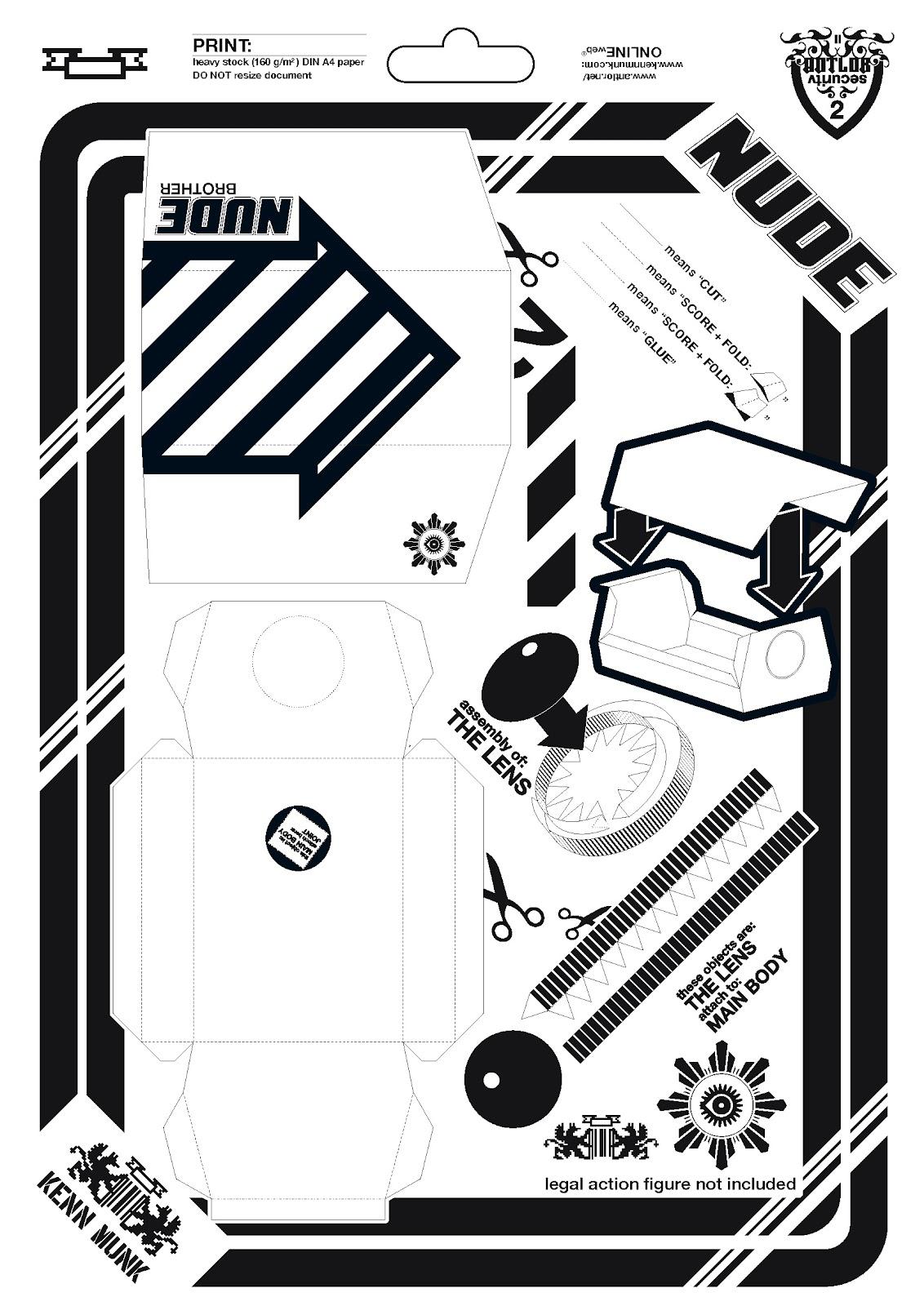 cámara, seguridad, papel, origami, manualidades, diys, vídeo vigilancia