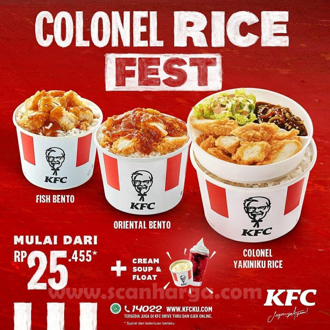 Promo KFC colonel Rice Fest Terbaru Harga Mulai Rp 25.455