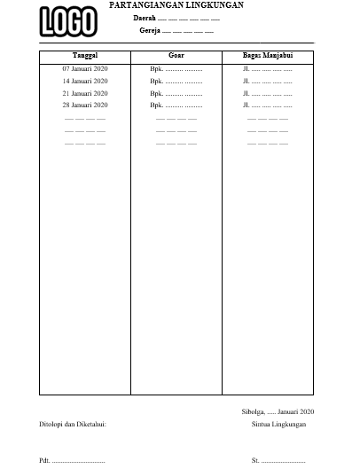 Download Template Microsoft Word untuk Jadwal Kebaktian ...