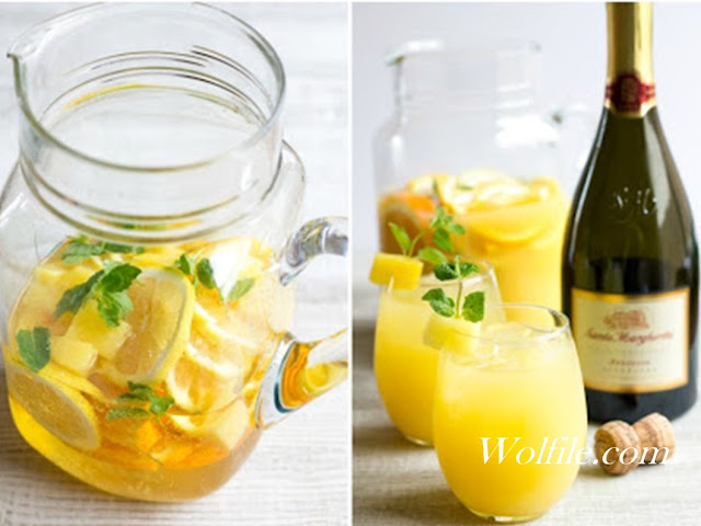 Pineapple Mint Prosecco Punch Recipe