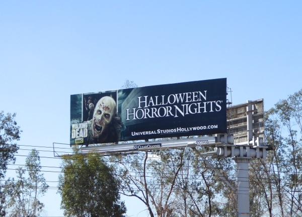 Halloween Horror Nights Walking Dead 2015 billboard