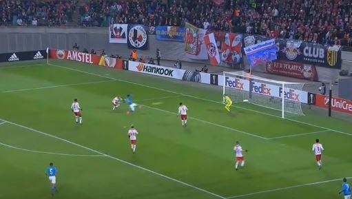 UEL Lipsia Napoli 0-2 (3-3) highlights e tabellino
