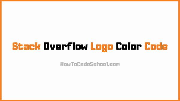 Stack Overflow Logo Color Code