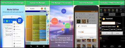 Aplikasi File Manager untuk Explore data Android