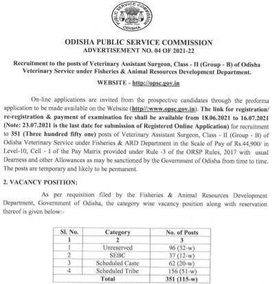 Odisha VAS Recruitment 2021 Apply Online