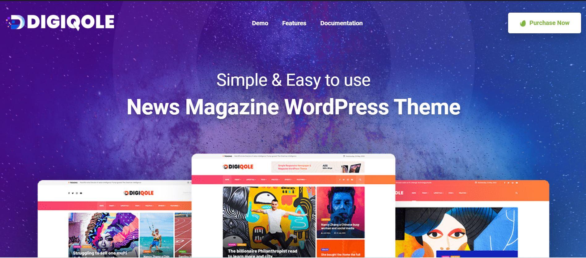 Digiqole The News And The Magazine WordPress Theme