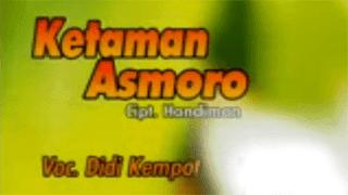 Lirik Lagu Ketaman Asmoro - Didi Kempot