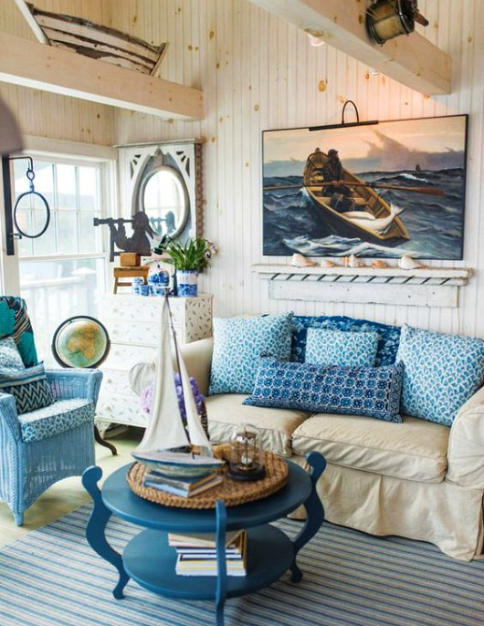 Rustic Maine Seaside Cottage Living Room