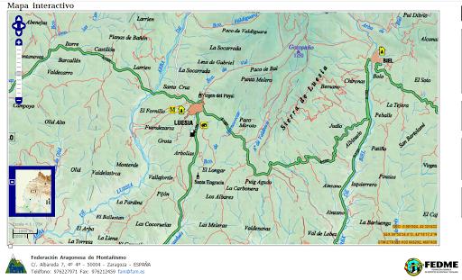 Mapa interactivo de la Federación de Montaña