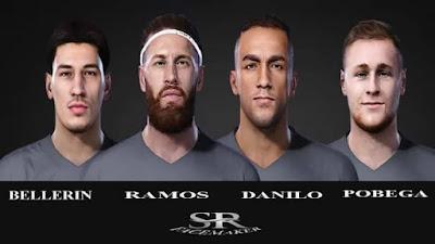 PES 2021 Faces Bellerin, Ramos, Pobega, Danilo by SR Facemaker
