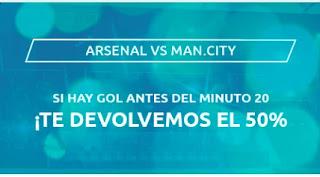 Mondobets promo Arsenal vs City 21 febrero 2021