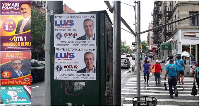 Partidos y candidatos con tímida  propaganda en Nueva York en fase intermedia para elecciones del 5 de julio