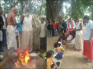 वीर विजय हनुमान आश्रम खुजावा पर यज्ञ, कन्या भोज, भंडारा आदि धार्मिक कार्यक्रम सम्पन्न