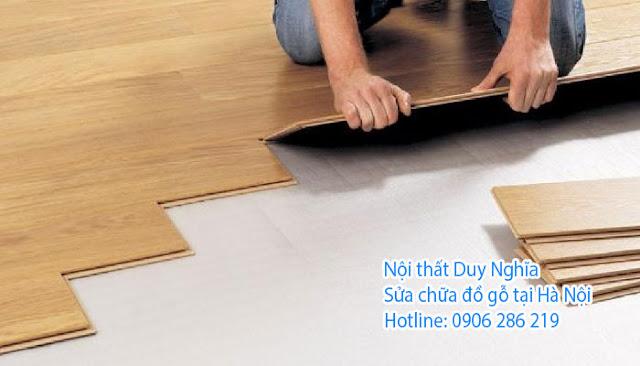 Thi công sàn gỗ mới tại Hà Nội