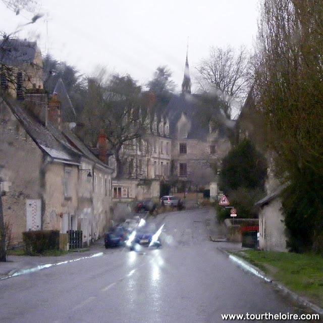 Reignac sur Indre in the rain, Indre et Loire, France. Photo by Loire Valley Time Travel.