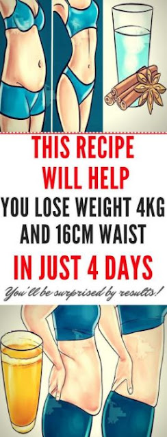 This Recipe Will Help You Lose Weight 4kg and 16cm Waist in Just 4 Days