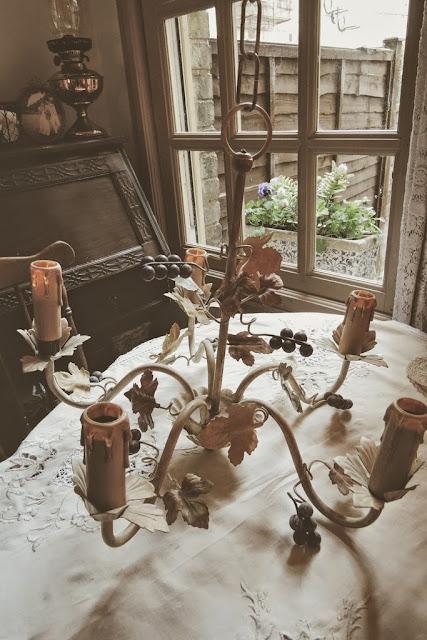 Ornate floral chandelier