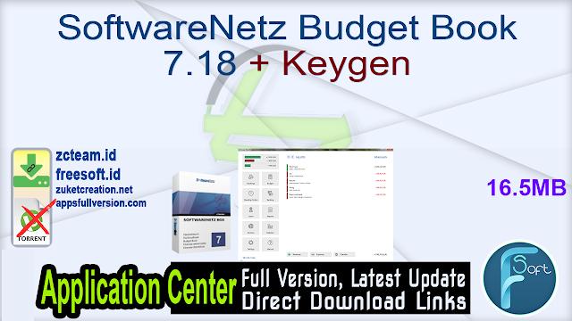 SoftwareNetz Budget Book 7.18 + Keygen_ ZcTeam.id