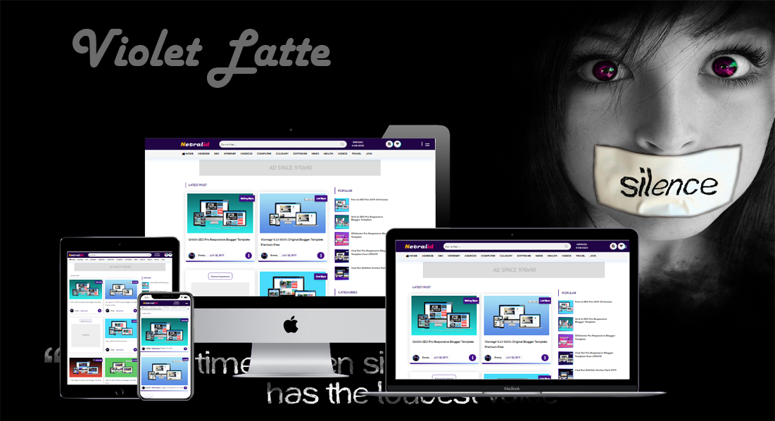 Violet Redesign Responsive Blogger Template