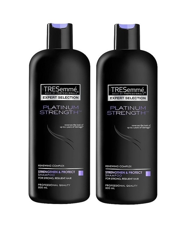 Pack of 2 Tresemme Platinum Strength Shampoo 500 ml
