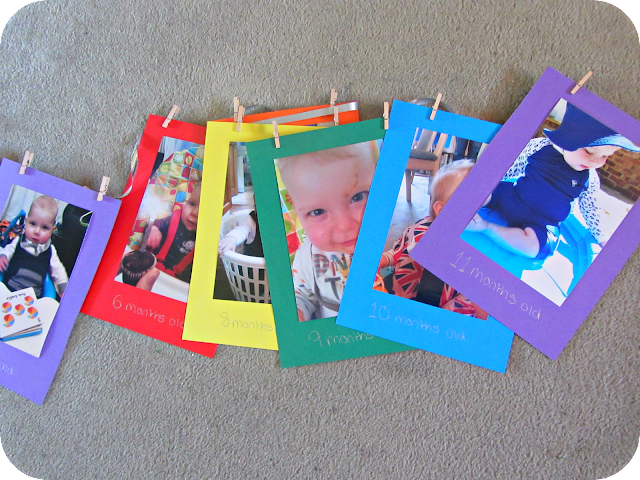 first birthday bunting, rainbow birthday party, photo bunting