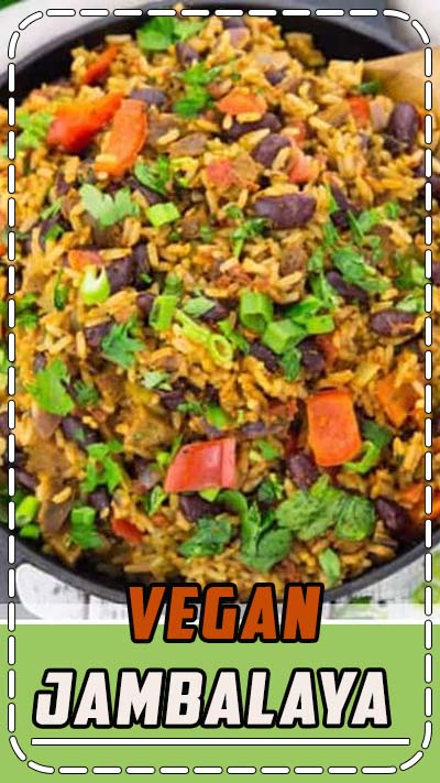 This vegan jambalaya makes the perfect vegan dinner! It's super easy to make and so delicious. It has been one of my favorite vegetarian recipes or recipes with rice for a long time. Find more vegan recipes at veganheaven.org! #vegan #veganrecipes