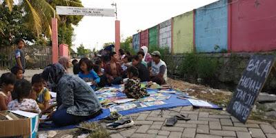 TBM Bintang Baca Gandeng Komunitas Vespa Teluknaga Lakukan Kebaikan di Bulan Ramadhan