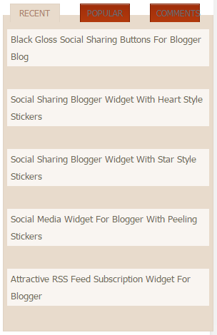 Multi Tabbed Widget For Blogger Blog