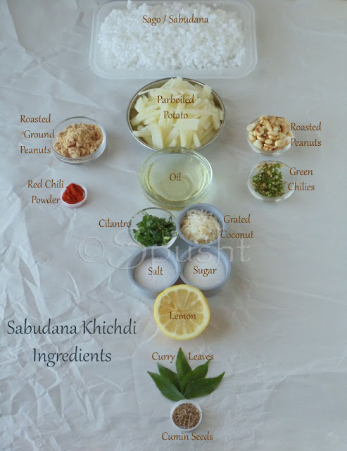 spusht | ingredients for sabudane ki khichdi