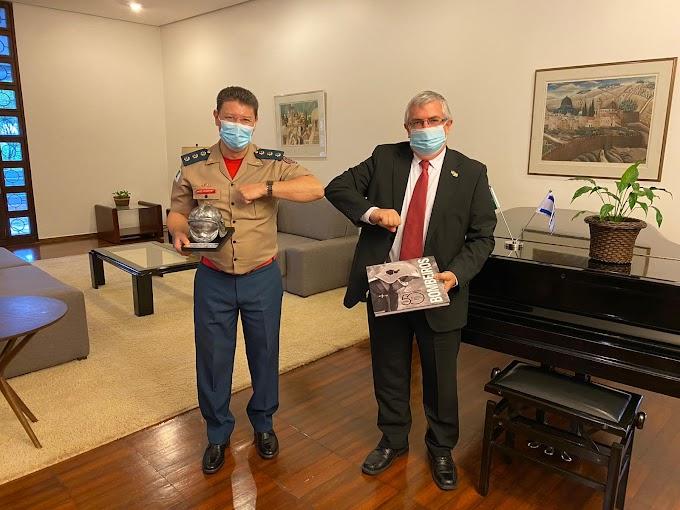 CBMDF, fez uma visita de cortesia ao novo embaixador do Estado Israel, Sr. Shmulik Bass.
