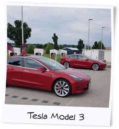 Mit dem Tesla on tour