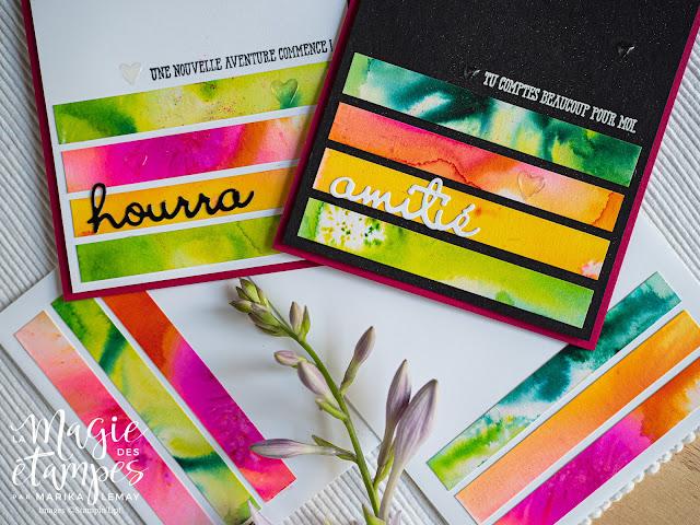 Cartes Stampin' Up! Utilise tes retailles au max avec Cristaux d'aquarelle pigment Sprinkles
