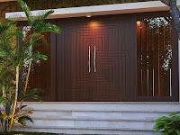 31 Desain Daun Pintu Rumah Dari Bahan Kayu