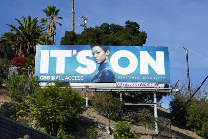 Its On CBS All Access Star Trek Discovery billboard