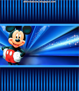 Mickey In Blue Free Printable Labels