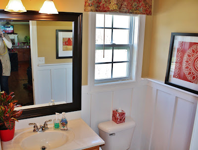 Add Board and Batten to Beautify a Bathroom - Sand and Sisal on tile board bathroom, batten with beadboard, cement board bathroom, batten wall treatment, concrete board bathroom, particleboard bathroom, easy wall treatments for bathroom,