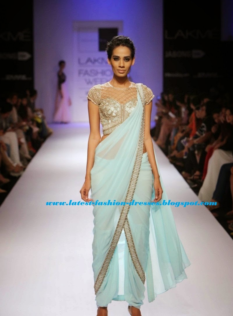 fashion show saree