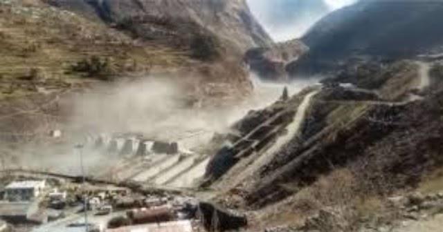 Breaking:Glacier burst in Uttarakhand's Chamoli area Again