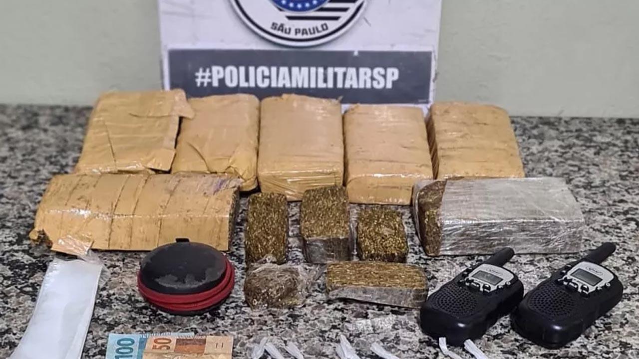 Polícia apreende 7 tijolos de maconha na Cecap, em Piracicaba