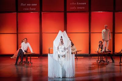 Monteverdi: Il ritorno d'Ulisse in patria - The Grange Festival - Robin Blaze, Anna Bonitatibus, Harry Nicoll (photo Robert Workman)