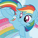 Coloring Rainbow Dash