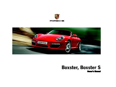 Porsche Boxster, Boxster S Owners Manual