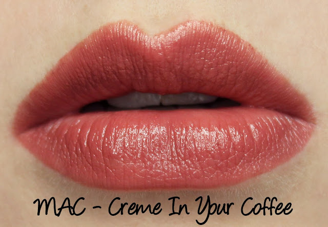 MAC Creme In Your Coffee Lipstick Swatches & Review