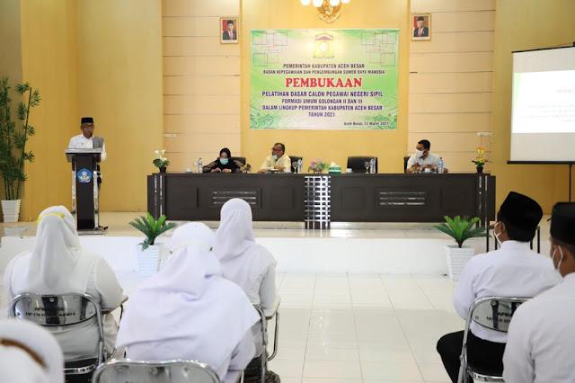 News Hari Ini : Wakil Bupati Aceh Besar Membuka Latsar CPNS Golongan  II dan III