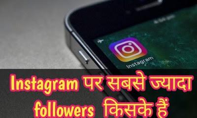 india me instagram par sabse jyada followers kiske hai